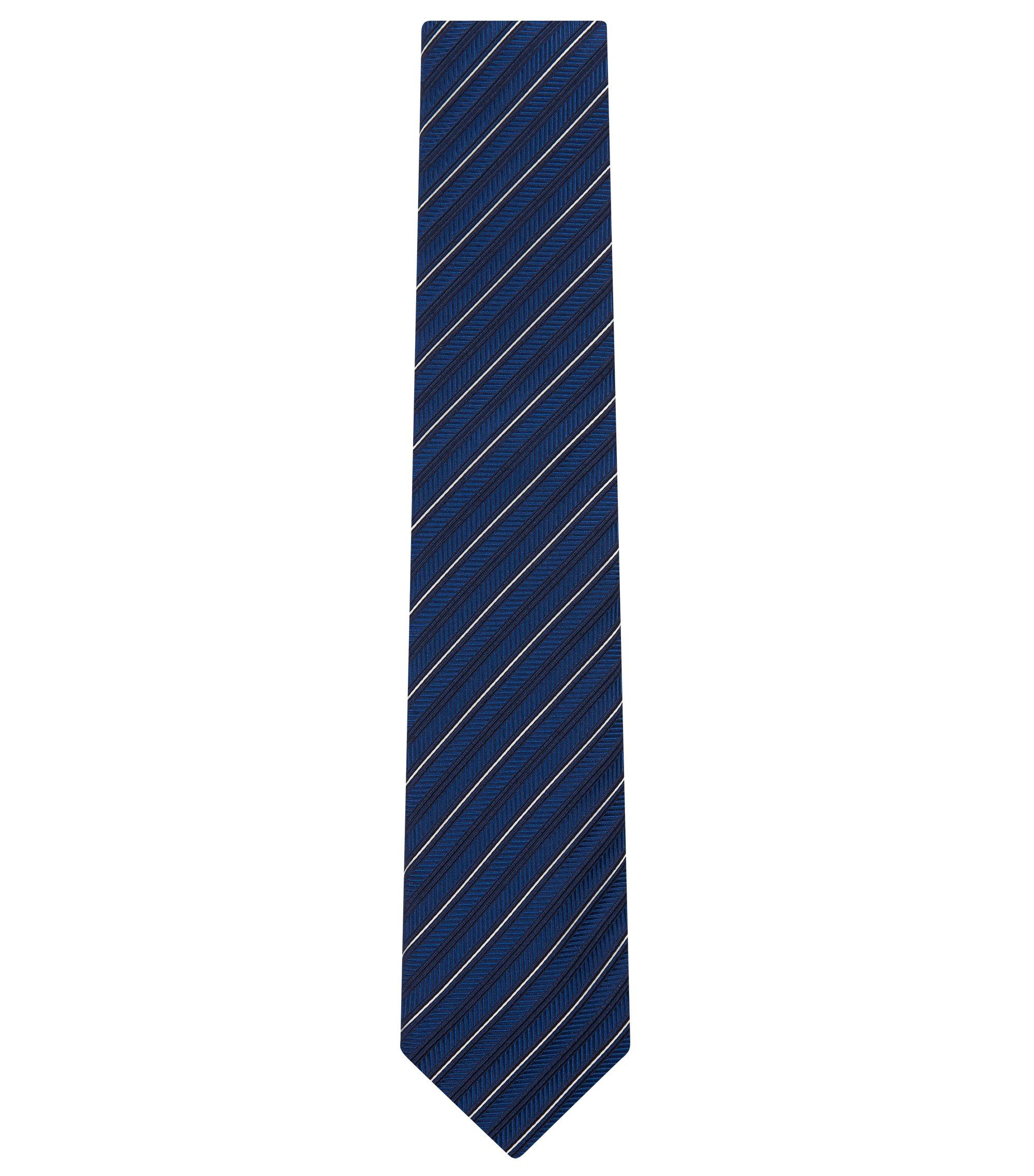 Embroidered Italian Silk Tie, Turquoise