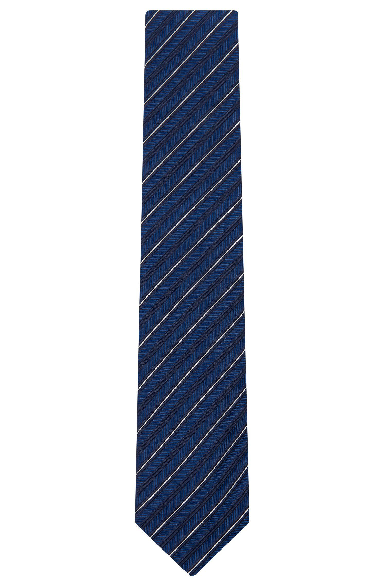 Embroidered Italian Silk Tie