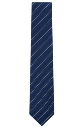 'Tie 7.5 cm' | Regular, Silk Patterned Tie, Turquoise