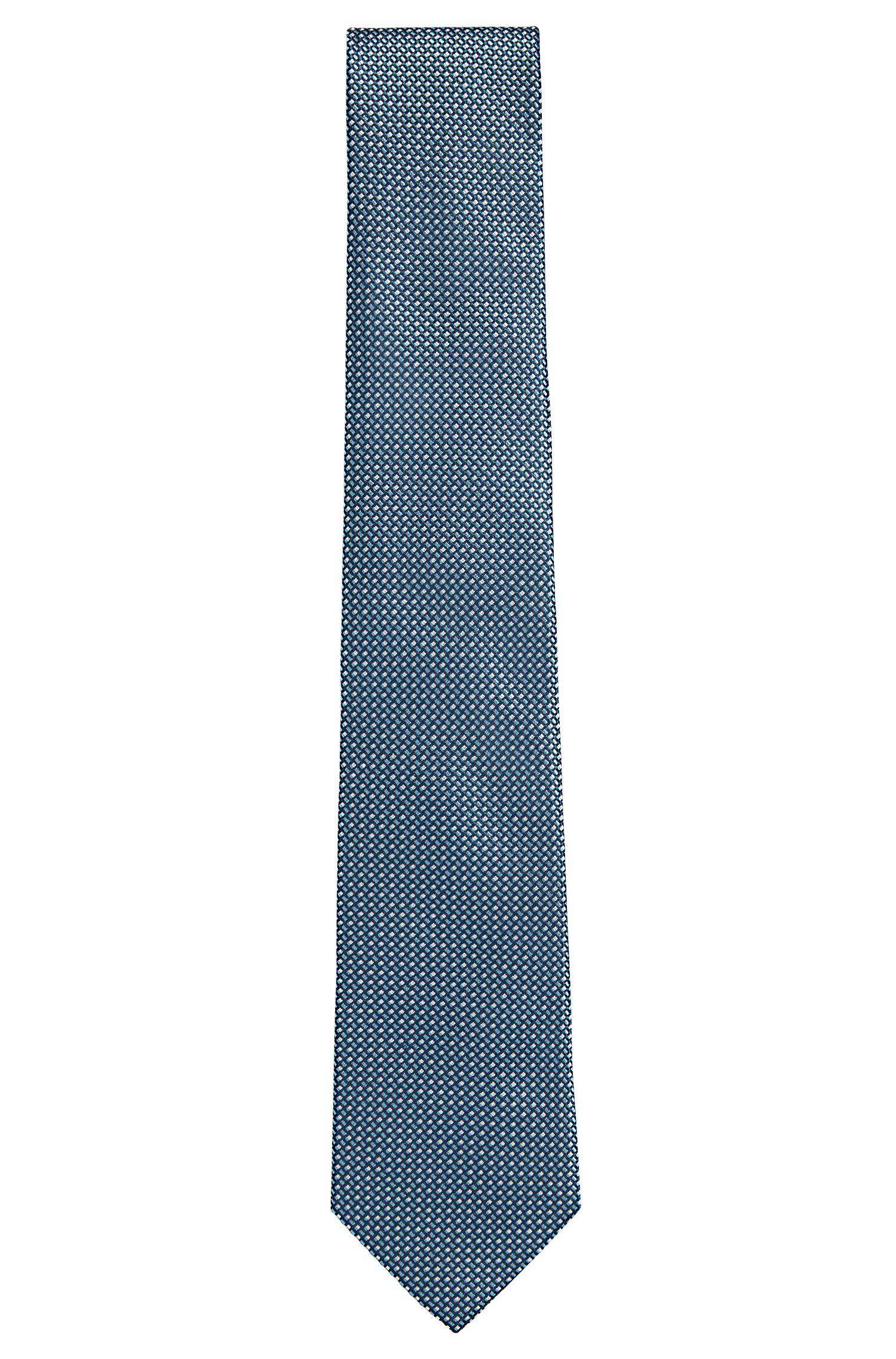 Patterned Silk Tie, Regular | Tie 7.5 cm, Open Green