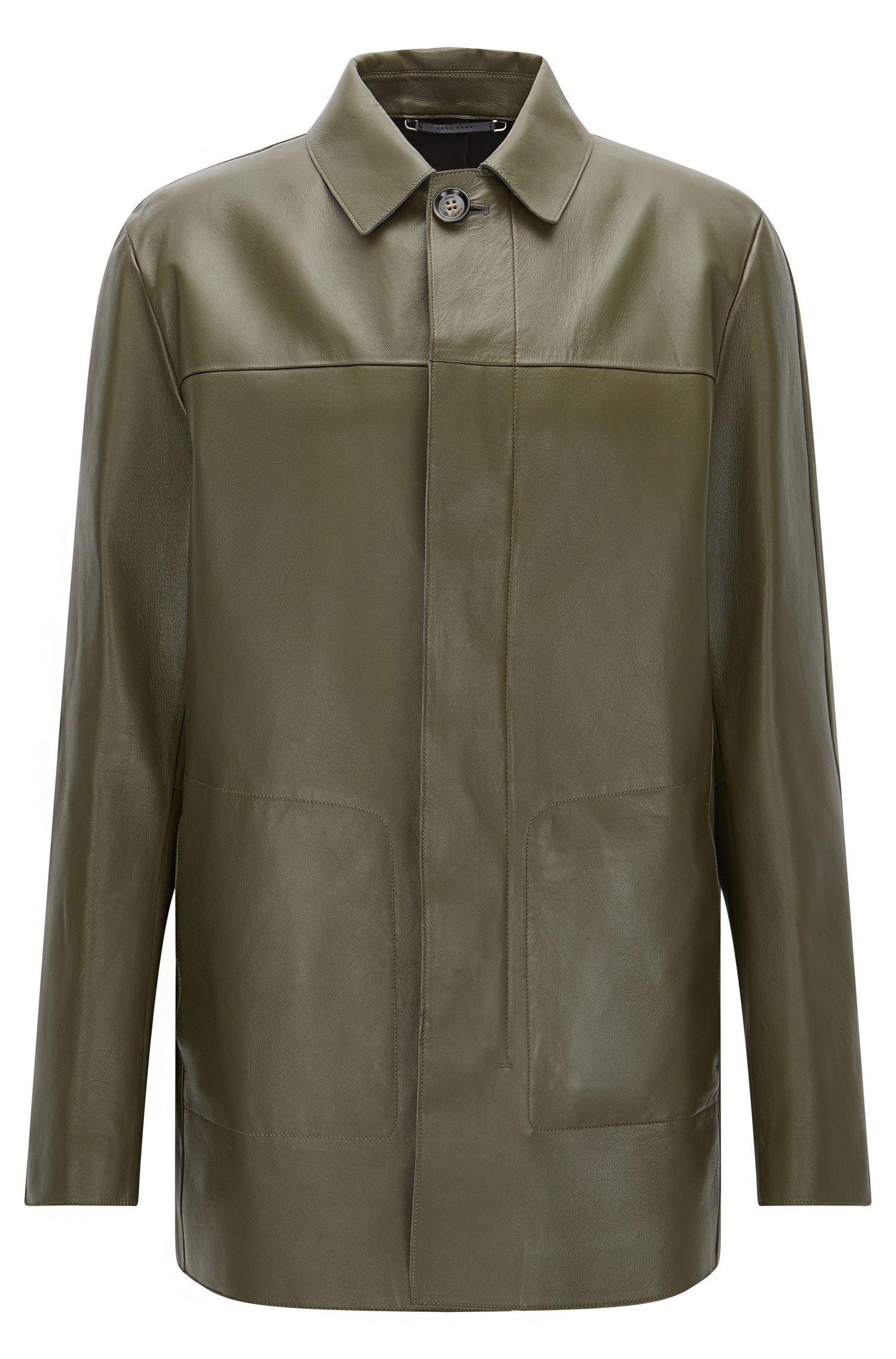 'T-Coppin' Lambskin Nappa Leather Car Coat