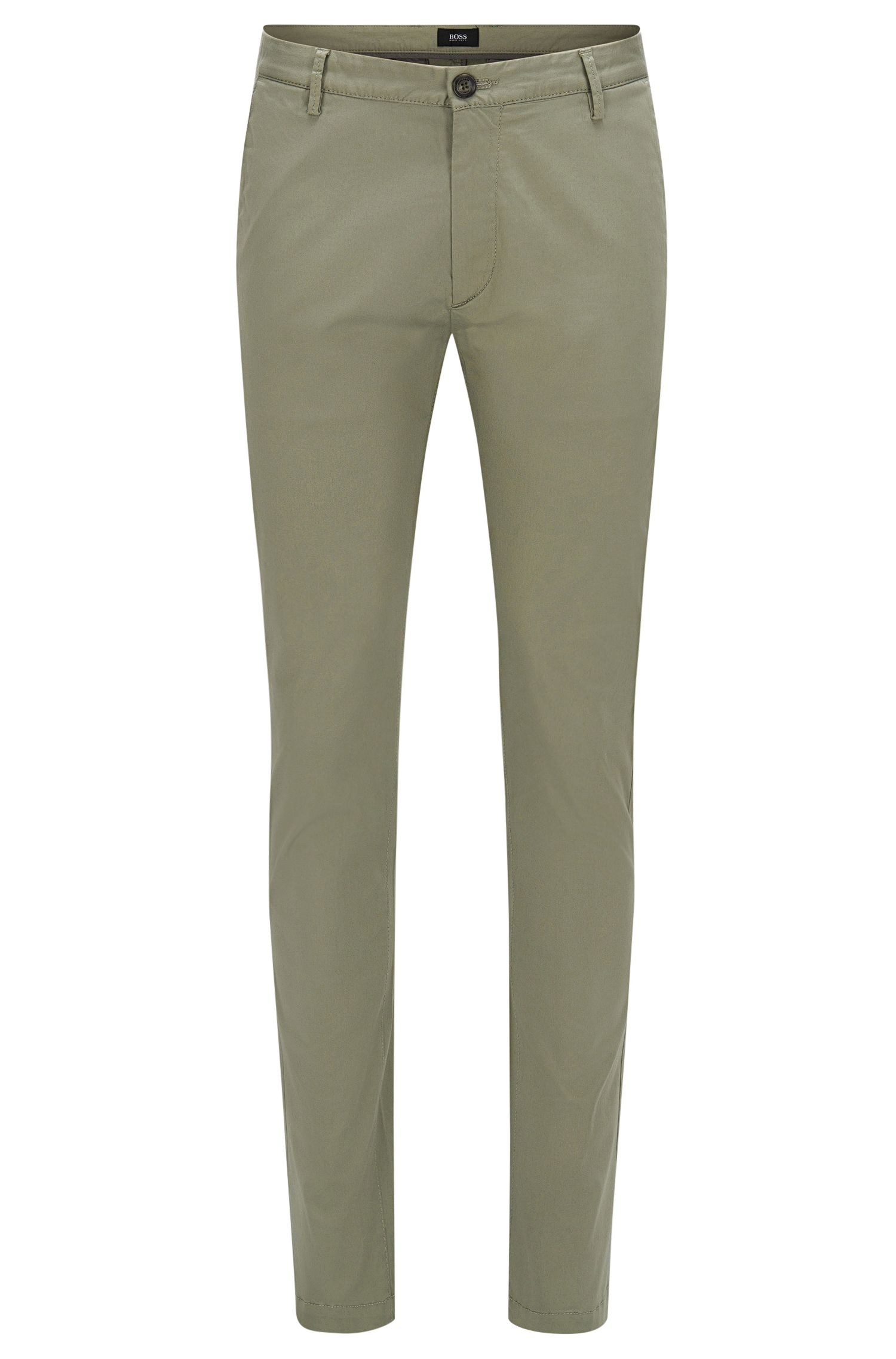 'Rice W' | Slim Fit, Italian Stretch Cotton Pants