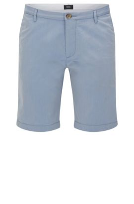 'Rice Short W' | Italian Stretch Cotton Blend Shorts, Blue