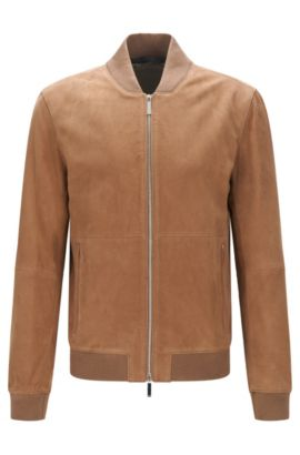 Suede Jacket, Regular Fit | Alfondo WS, Open Beige