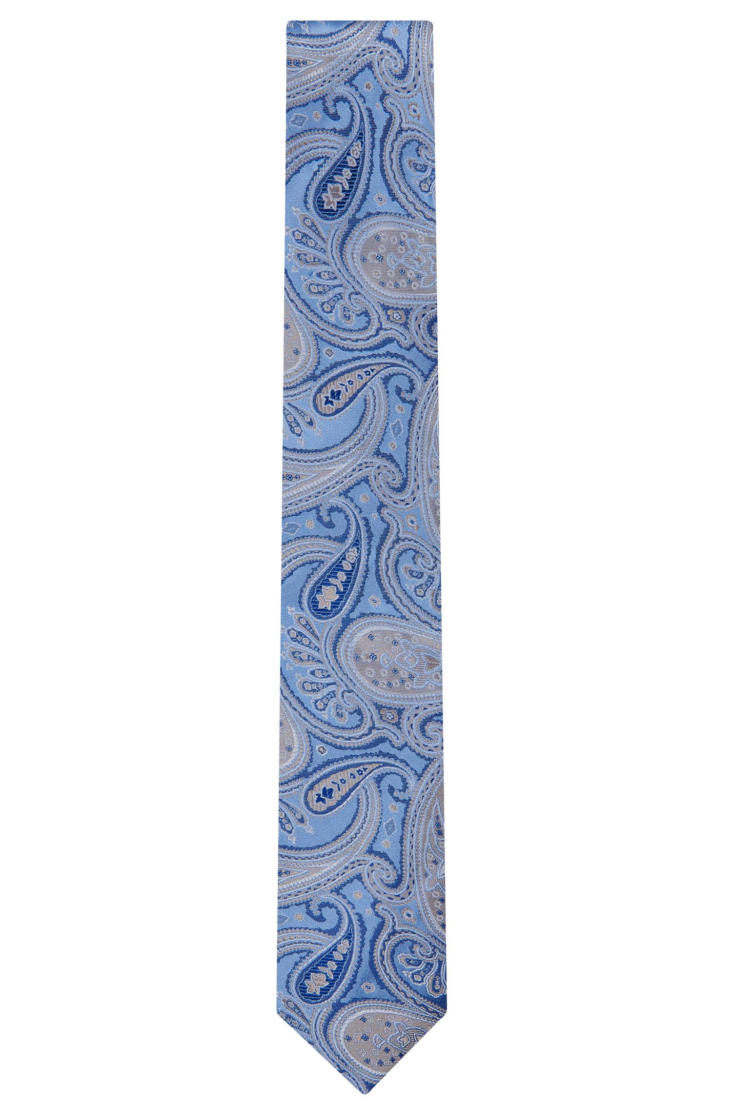 Embroidered Italian Silk Tie