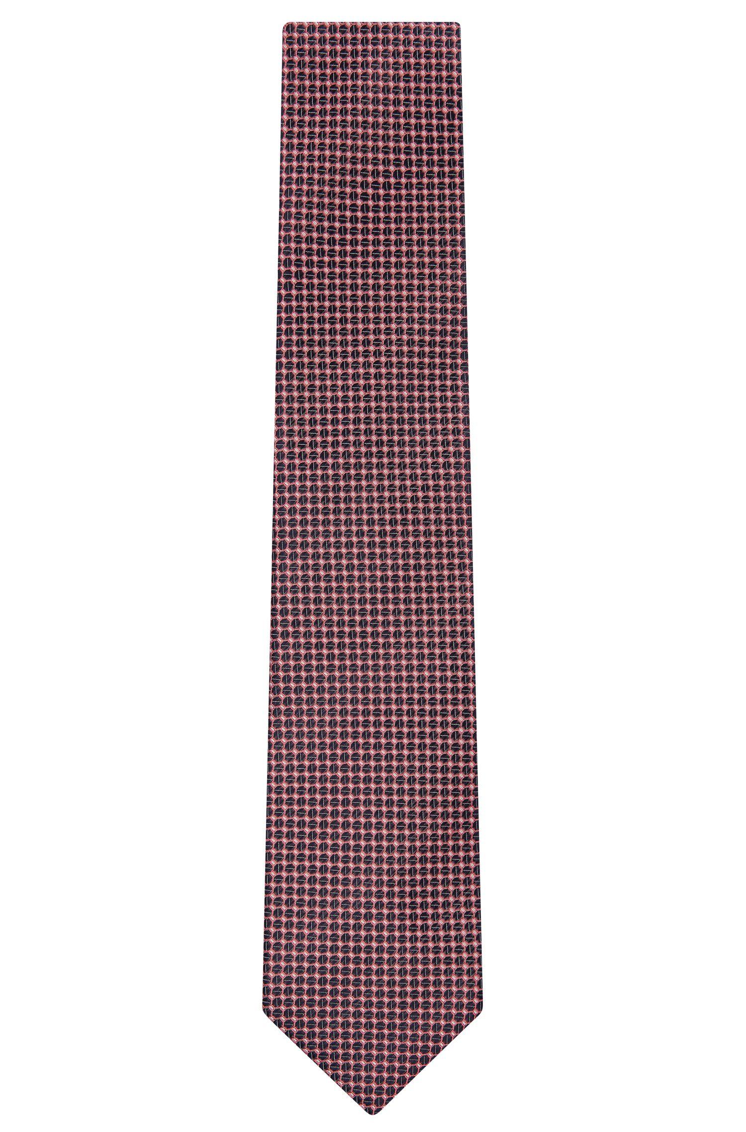 Embroidered Italian Silk Tie, Regular | Tie 7.5 cm