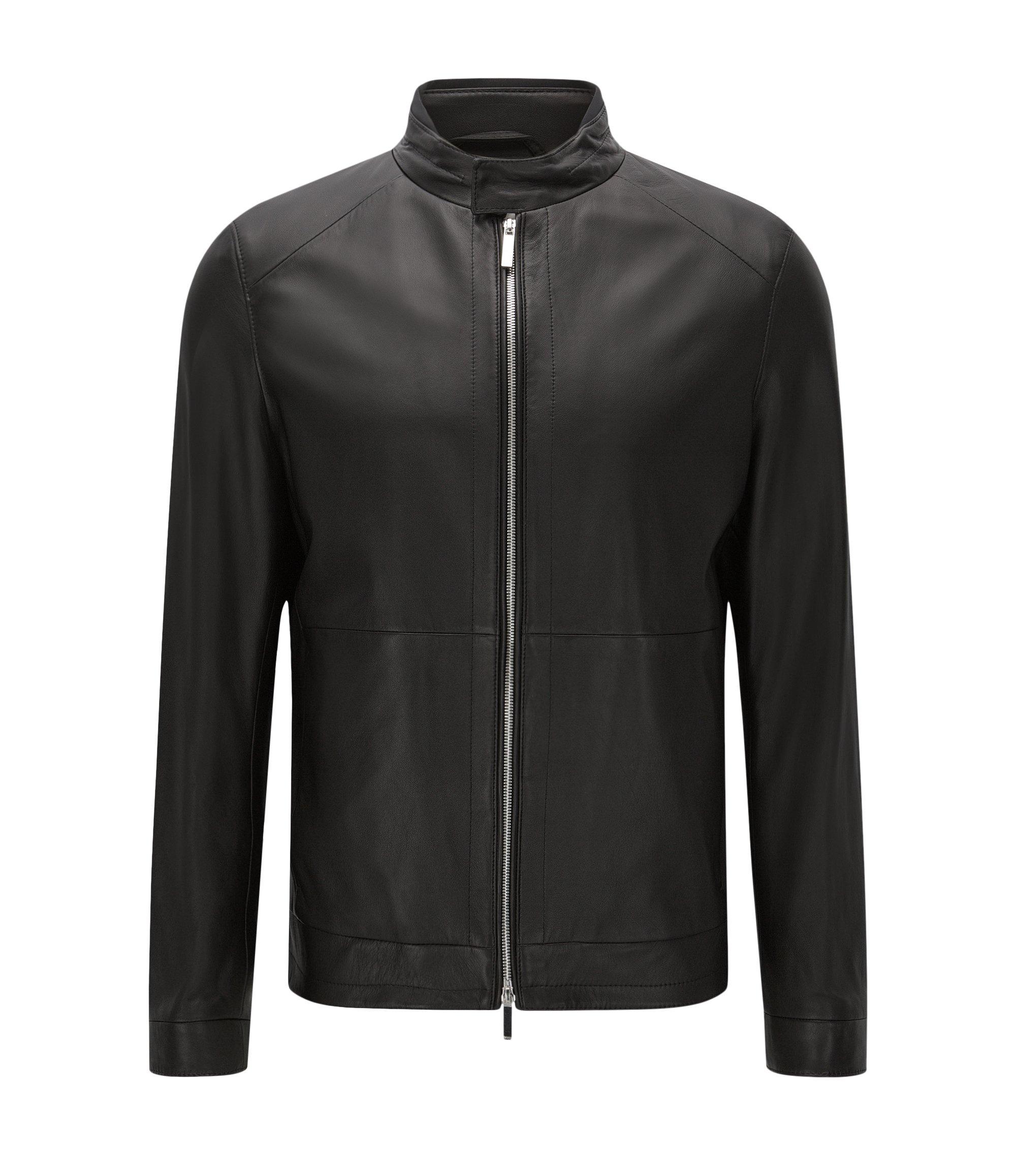 Lambskin Biker Jacket   Nartimo, Black