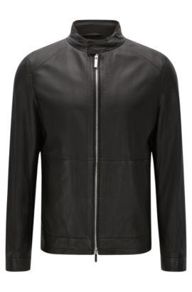 'Nartimo' | Lambskin Biker Jacket, Black