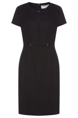 Virgin Wool Blend Shift Dress | Dimondi, Patterned
