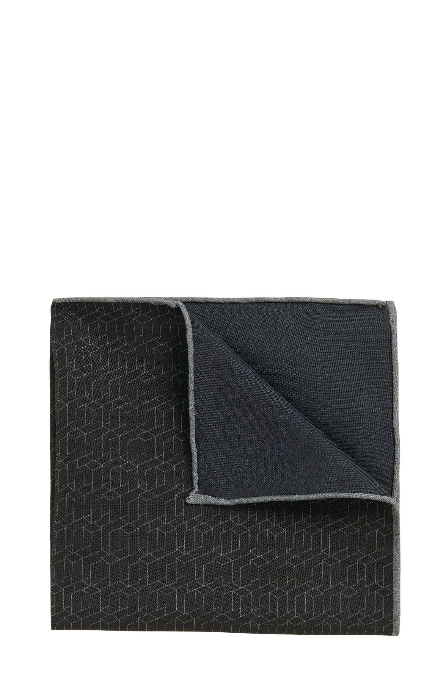 BOSS Tailored Italian Silk Cotton Pocket Square