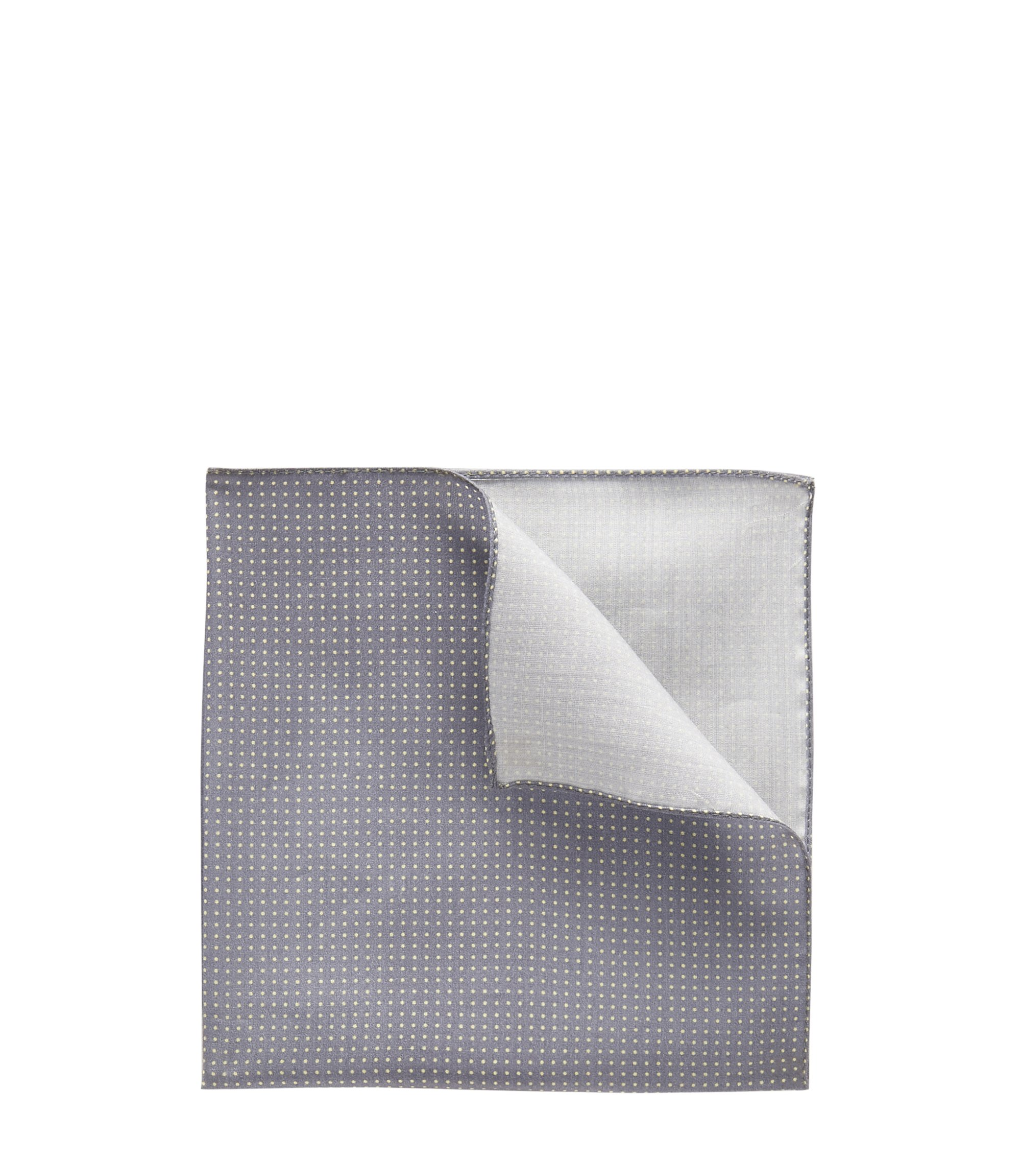 Pindot Pocket Square, Open Blue