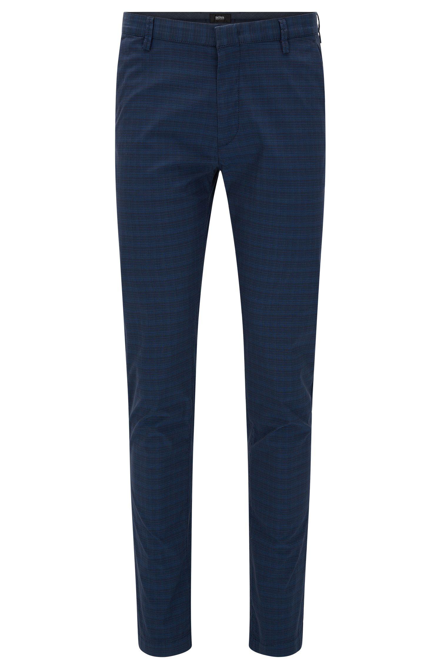'Rice-W' | Slim Fit, Stretch Cotton Blend Pants