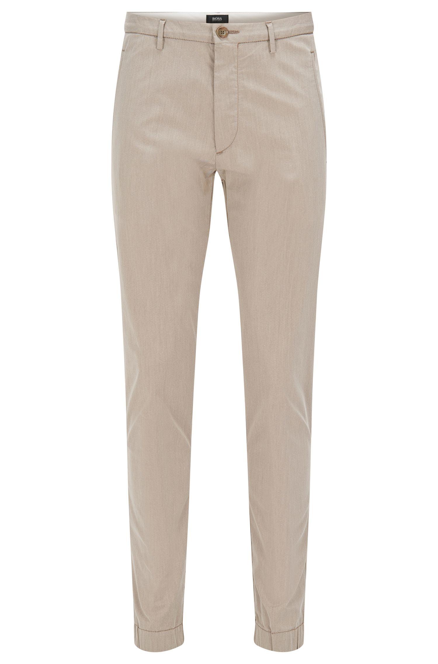 'Kito W'   Regular Fit, Italian Stretch Cotton Blend Trousers