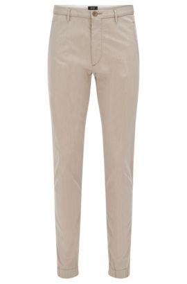 'Kito W' | Regular Fit, Italian Stretch Cotton Blend Trousers, Open Beige