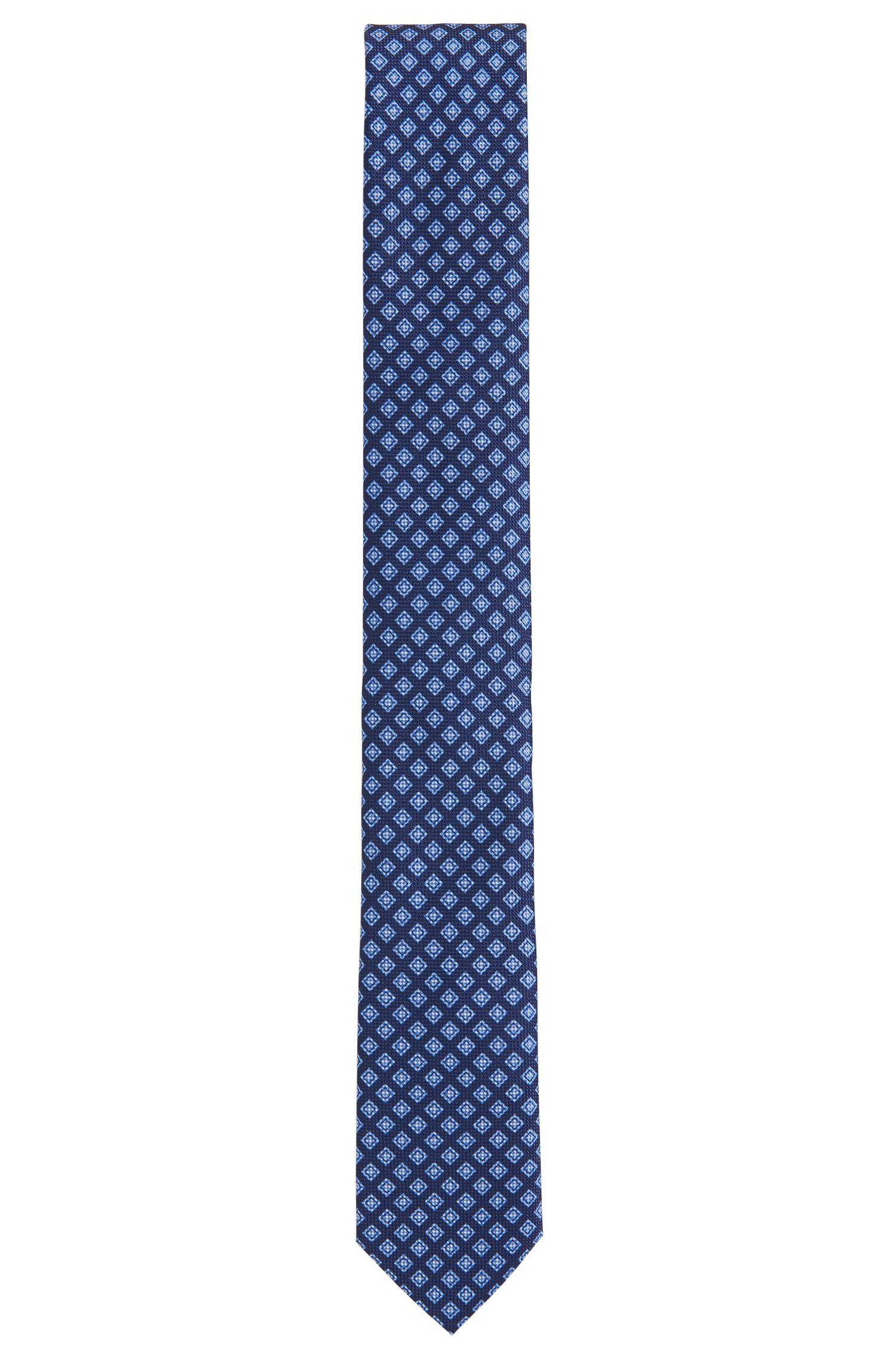 Patterned Italian Silk Slim Tie