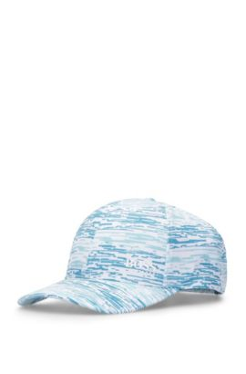 'Printcap' | Baseball Cap with Pattern, Open Blue