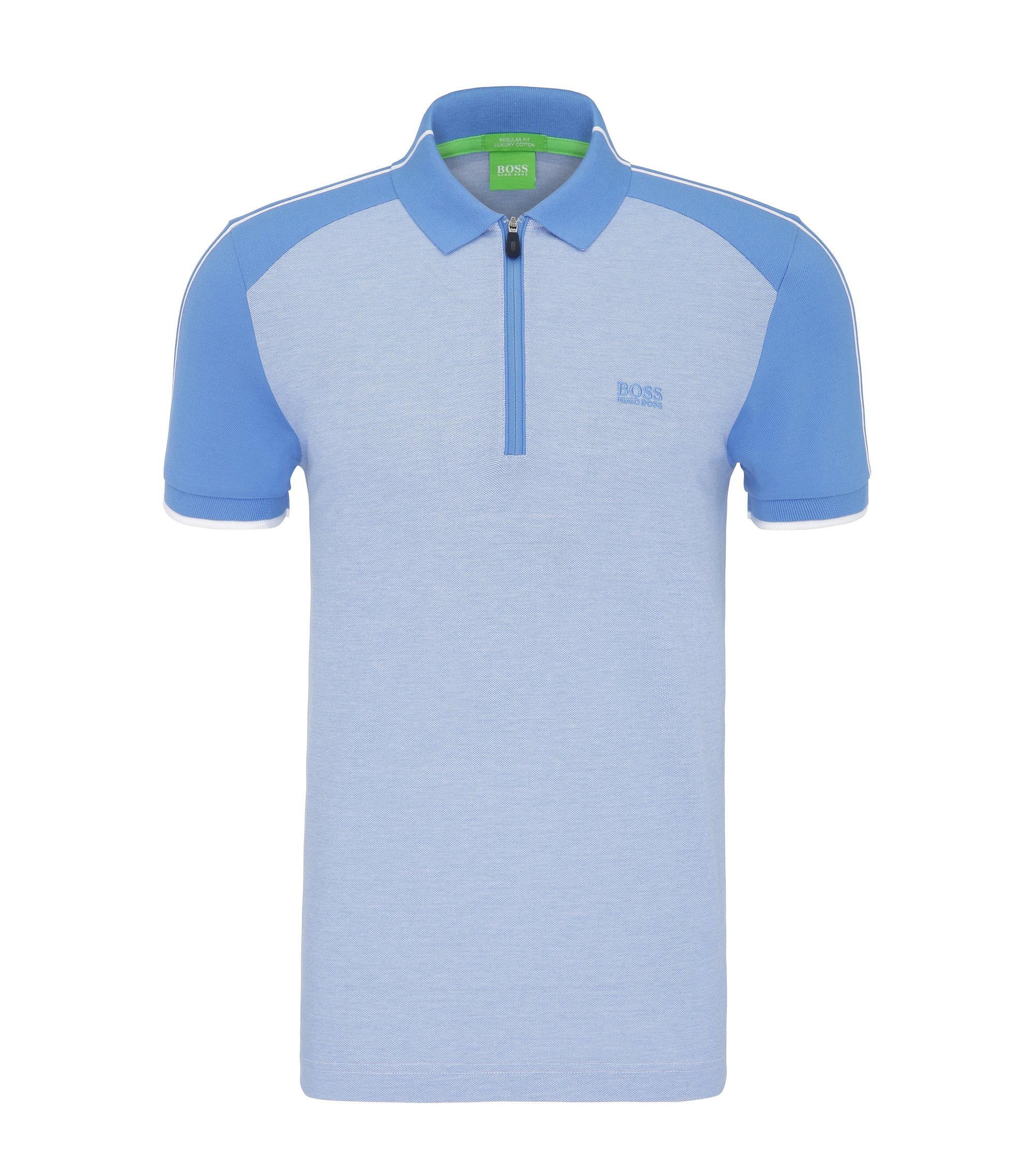 Cotton Polo Shirt, Slim Fit | Philix, Blue