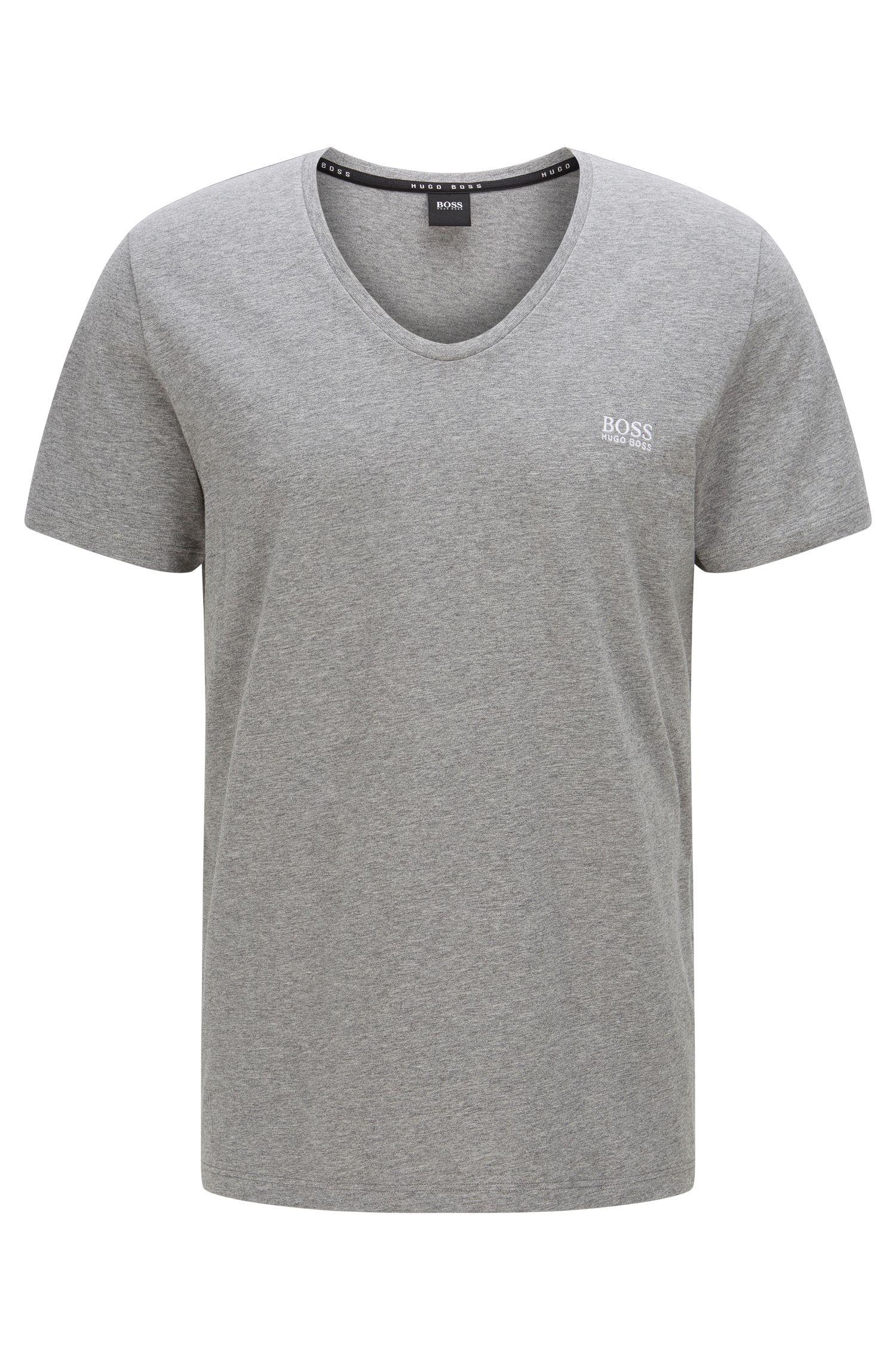 'T-Shirt DN' | Stretch Cotton V-Neck T-Shirt