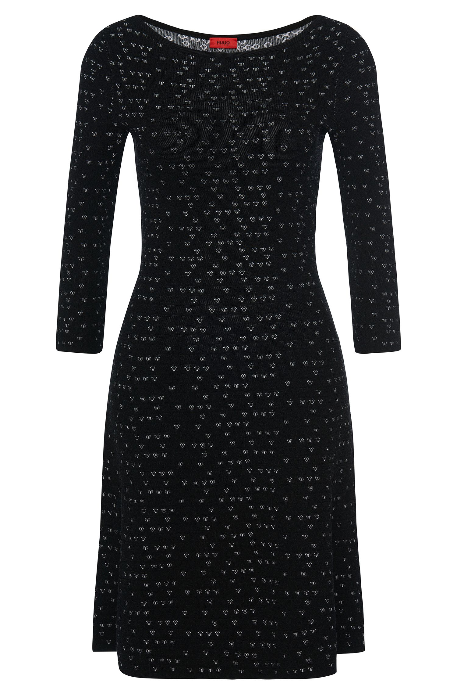 Viscose Patterned Knit Dress | Serita