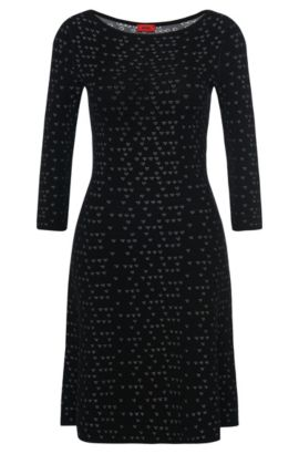 'Serita' | Viscose Patterned Knit Dress, Patterned