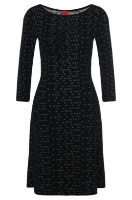 'Serita' | Viscose Patterned Knit Dress, Patterned