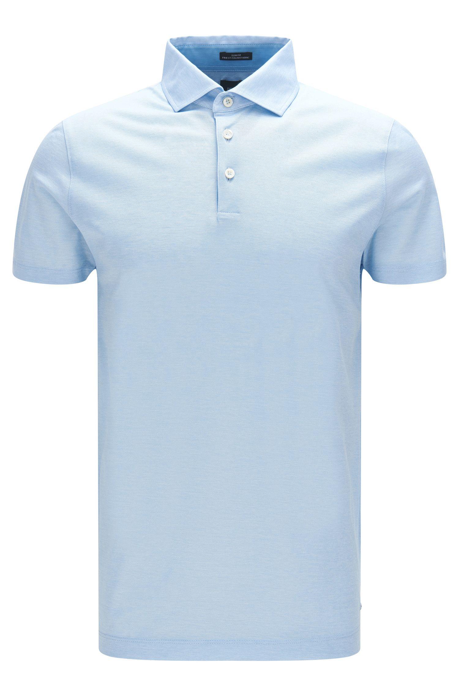 'T-Pryde'   Slim Fit, Italian Cotton Jacquard Polo Shirt
