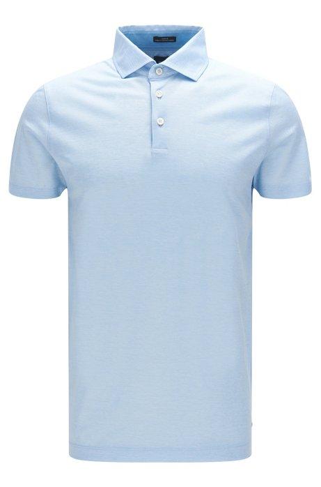 0abd1b9be BOSS - Italian Cotton Jacquard Polo Shirt