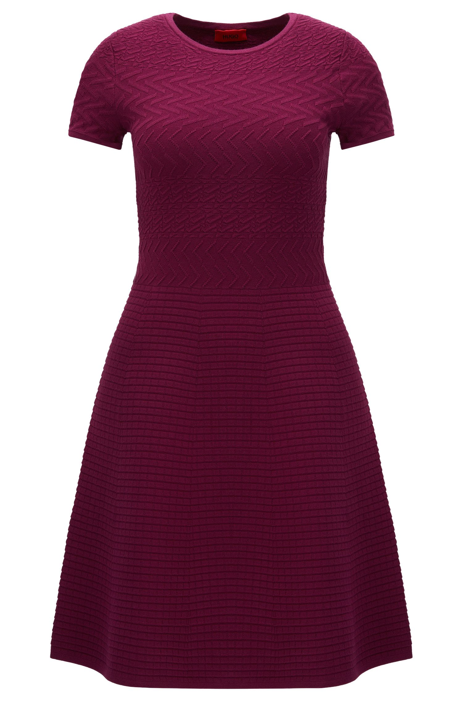 'Somaria' | Patterned A-line Sweater Dress
