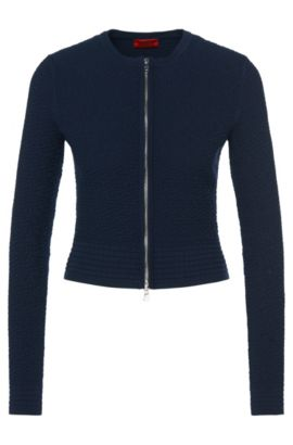 Matelasse Zip Jacket | Sonngard, Open Blue