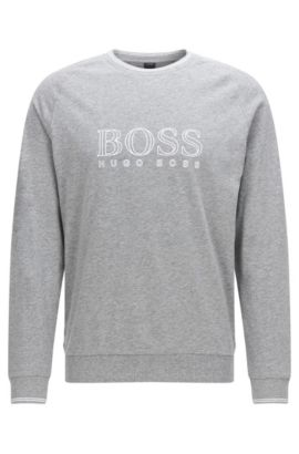 'Sweatshirt' | Cotton Logo Sweatshirt, Grey
