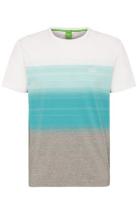 Ombre Cotton T-Shirt | Tee, Open Blue