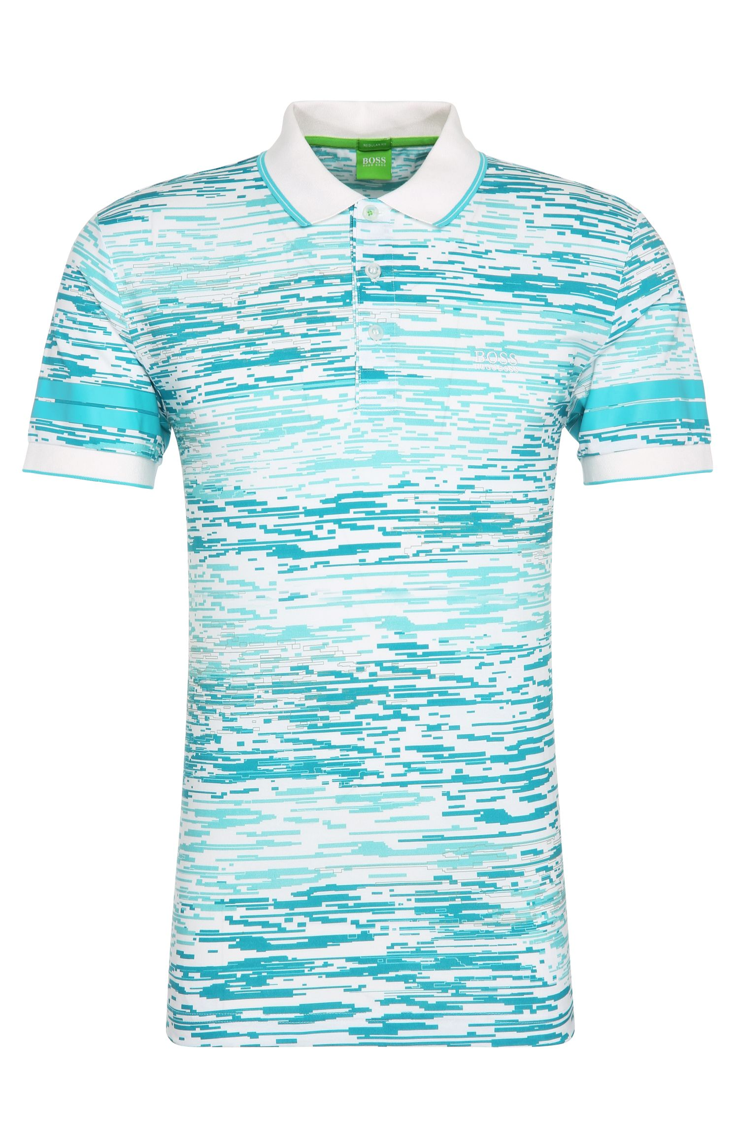'Paddy 4'   Regular Fit, Printed Cotton Polo Shirt