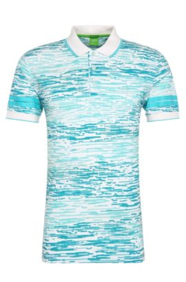 Printed Cotton Polo Shirt, Regular Fit | Paddy, White