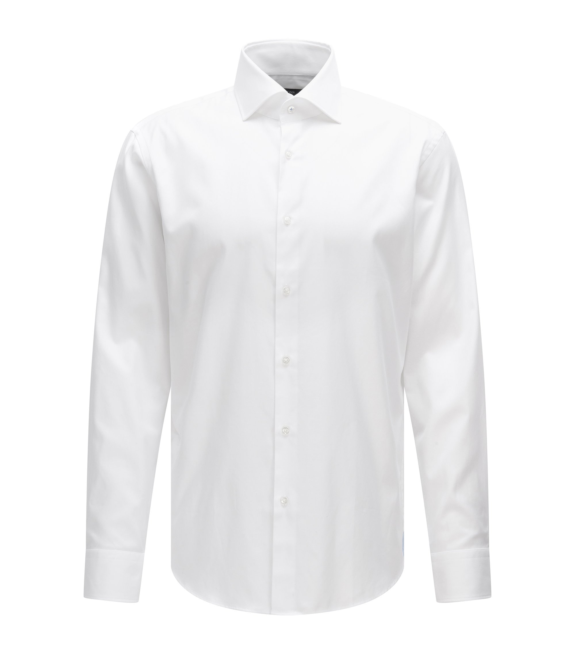 Cotton Dress Shirt, Regular Fit | Gert, White