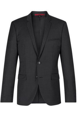 'Adris' | Extra Slim Fit, Virgin Wool Sport Coat, Black