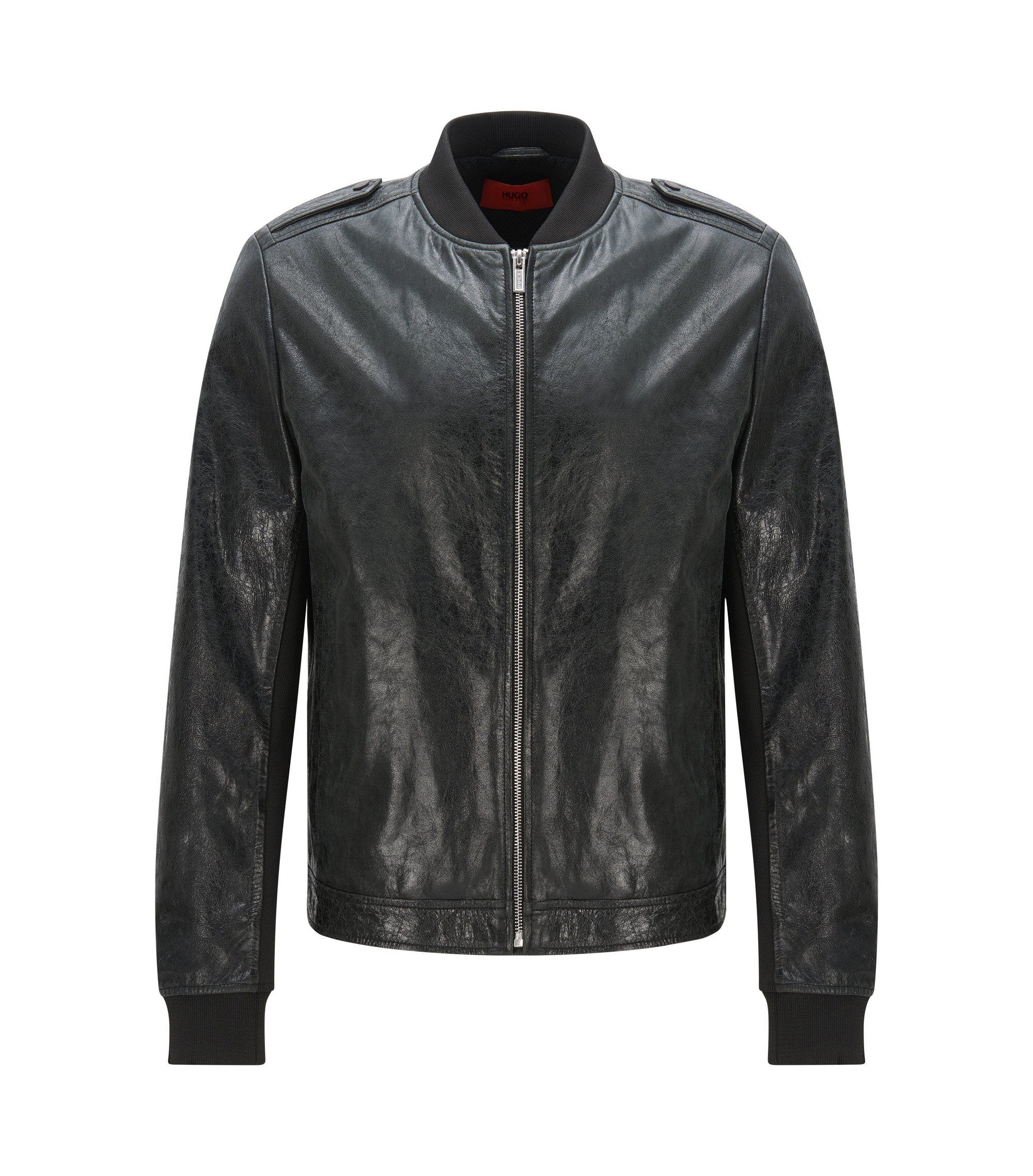 Lambskin Leather Jacket | Lessko, Black