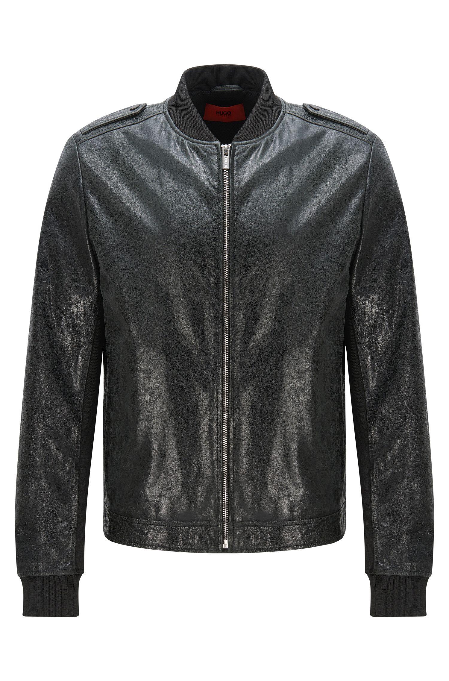 Lambskin Leather Jacket   Lessko