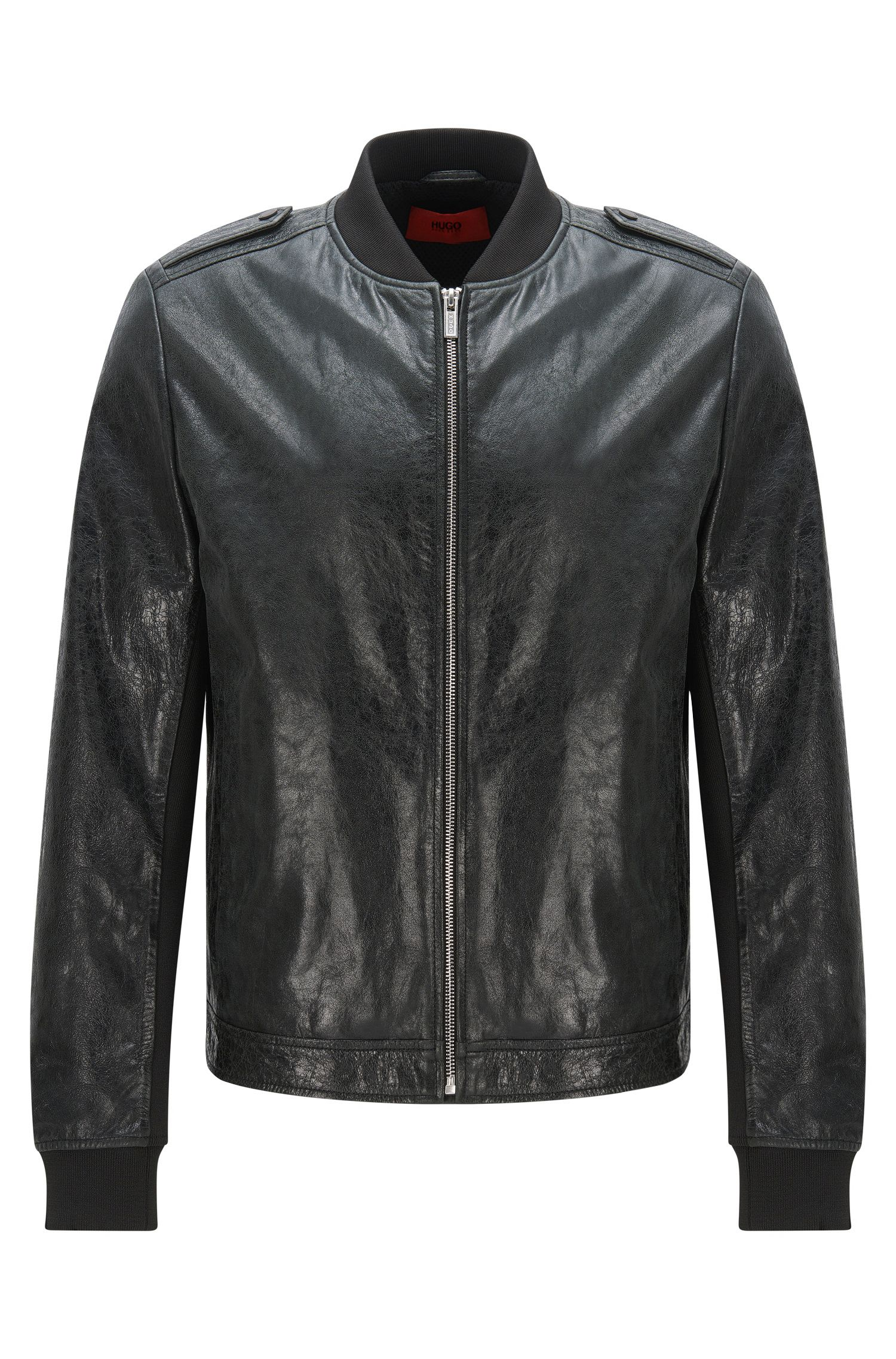Lambskin Leather Jacket   Lessko, Black