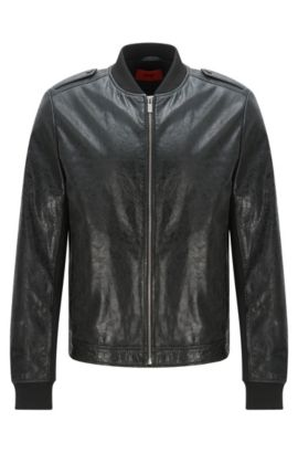 'Lessko' | Lambskin Leather Jacket, Black