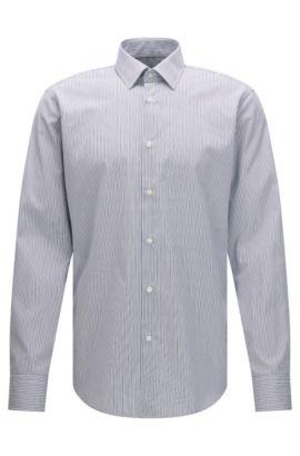 Easy Iron Cotton Dress Shirt, Regular Fit | Enzo, Dark Blue