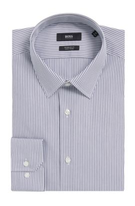 Easy Iron Cotton Dress Shirt, Regular Fit | Enzo  , Dark Blue