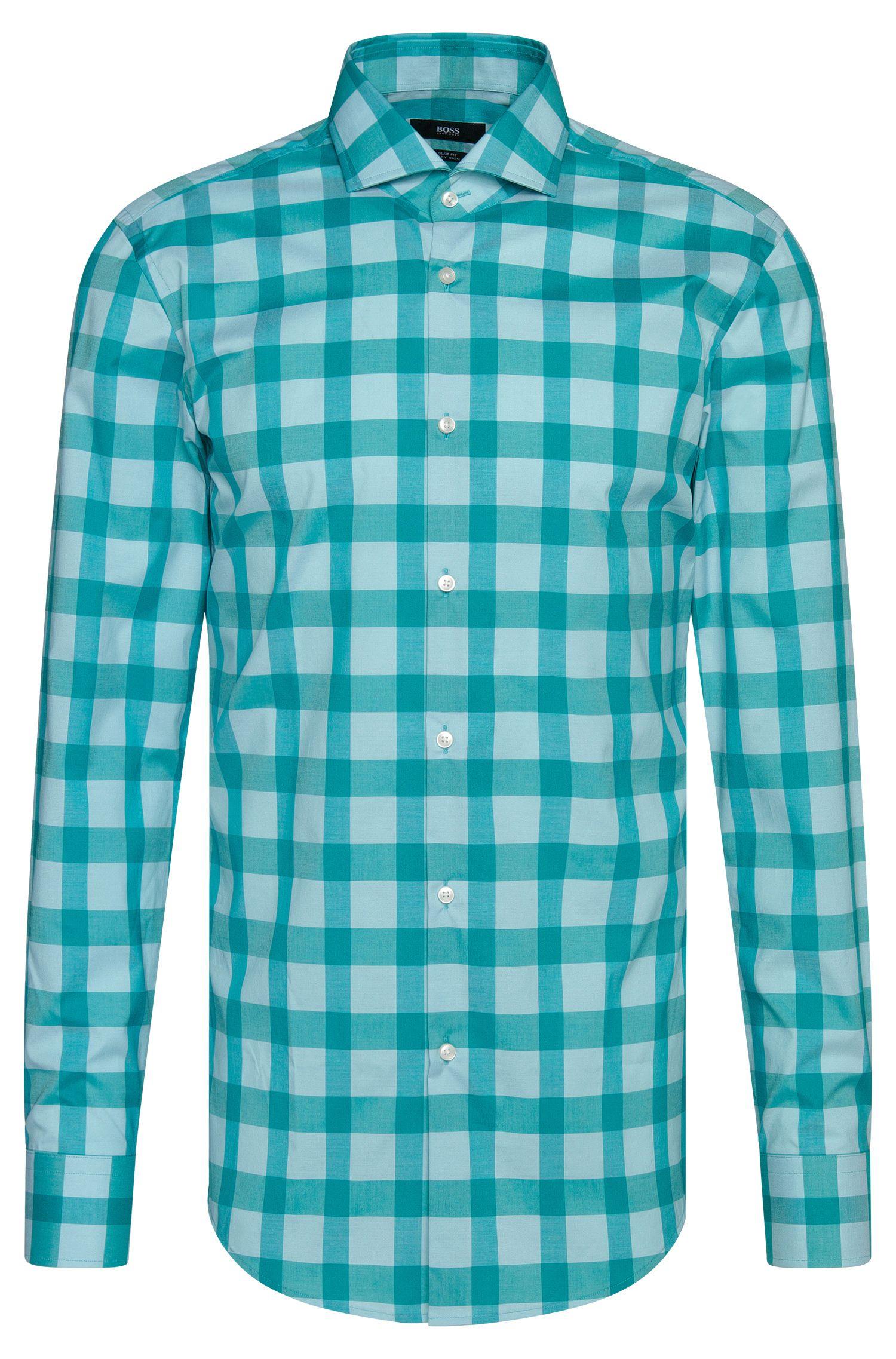 Buffalo Check Cotton Easy Iron Dress Shirt, Slim Fit   Jason