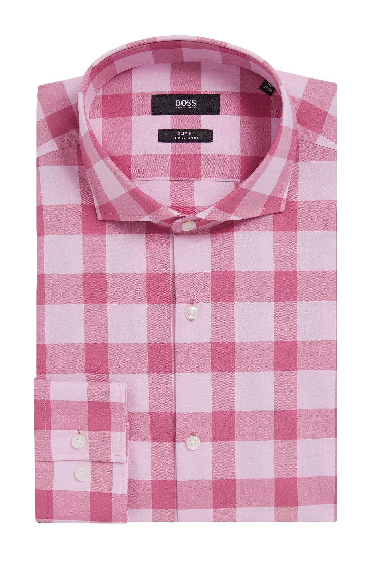 Buffalo Check Cotton Easy Iron Dress Shirt, Slim Fit | Jason