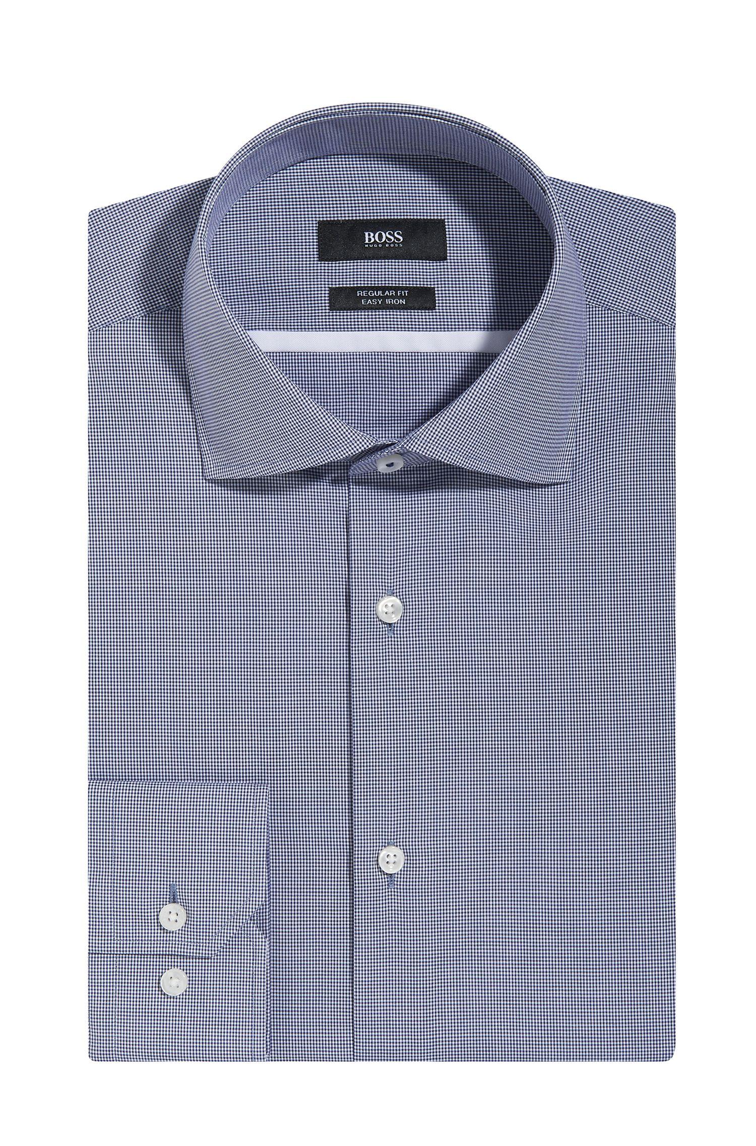 Micro-Check Easy Iron Cotton Dress Shirt, Regular Fit  Gert