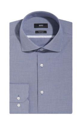 Micro-Check Easy Iron Cotton Dress Shirt, Regular Fit  Gert, Dark Blue