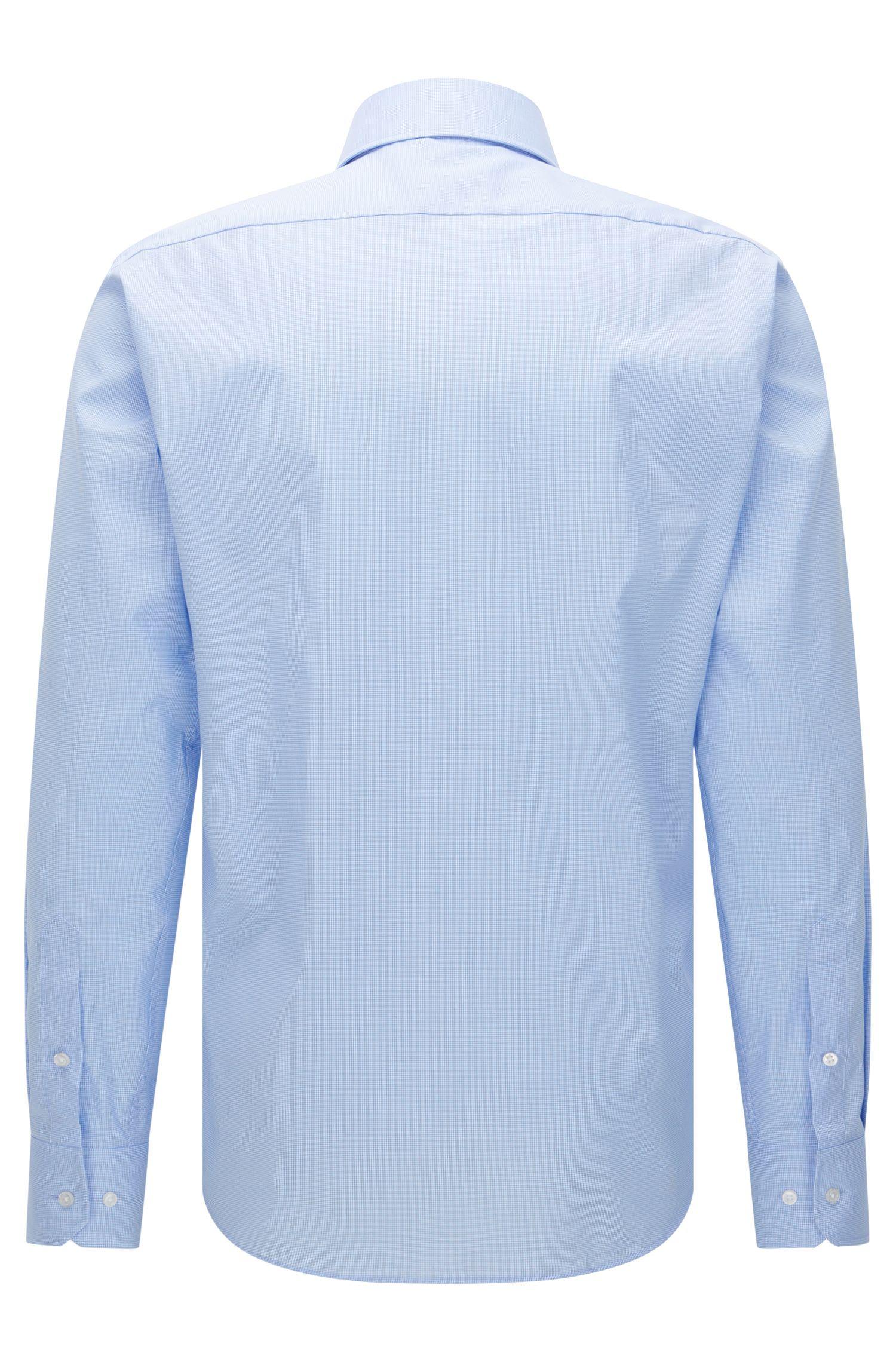 Micro-Check Easy Iron Cotton Dress Shirt, Regular Fit| Gert