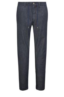7.6 oz Stretch Cotton Blend Jeans, Tapered Fit | Darrel, Dark Blue