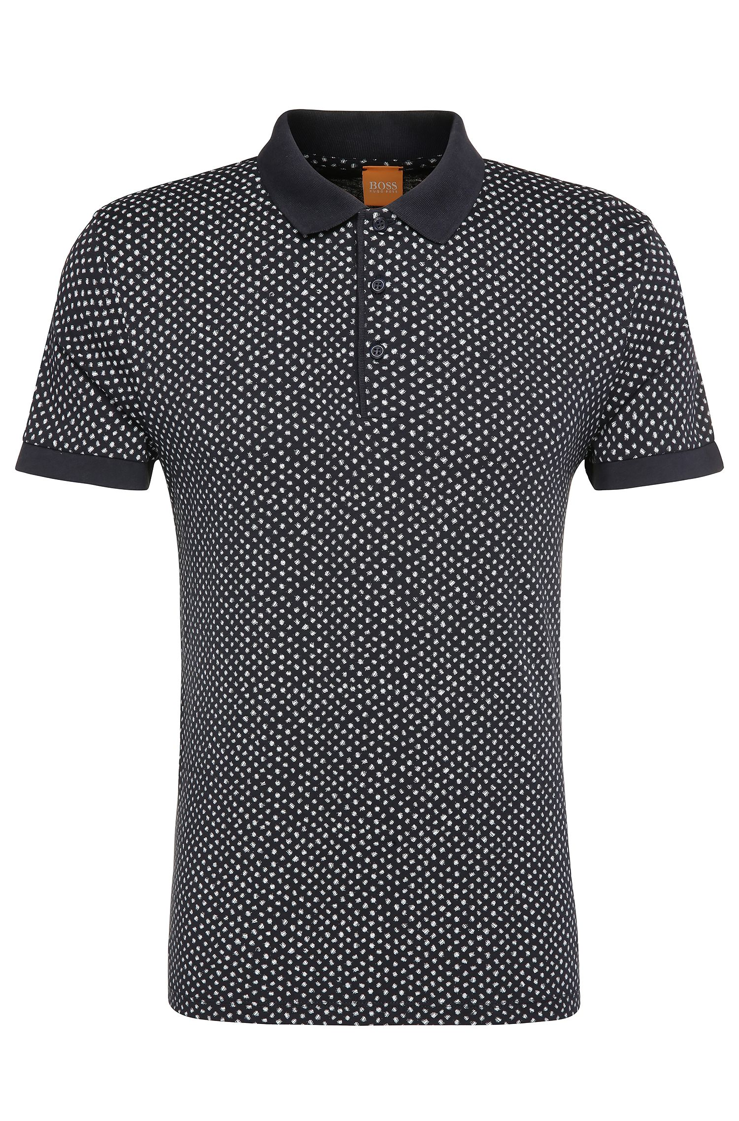 'Palex' | Regular Fit, Cotton Printed Polo