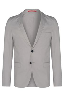 Stretch Cotton Sport Coat, Slim Fit | Anfred, Open Grey