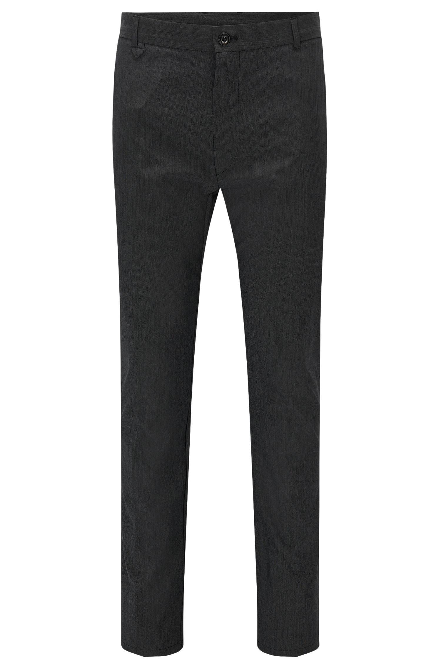 Virgin Wool Blend Pants, Slim Fit | Heldor